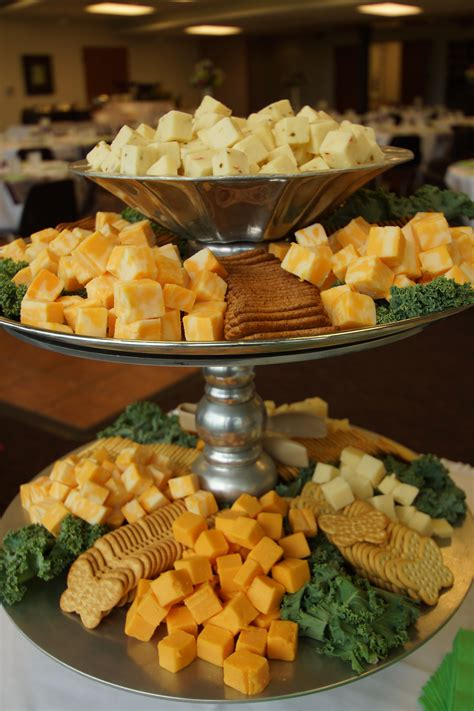 Appetizers For Wedding Reception Ideas by Tiered Stand To Display Assorted Cheese Cubes And Crackers