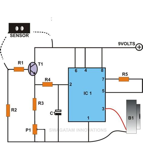 simple projects using integrated circuits build these simple alarm circuits using ic 555 sensor and light sensor circuit