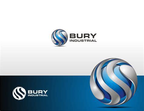 free tutorial on logo design 3d logo of bury industrial by dewaaaa on deviantart