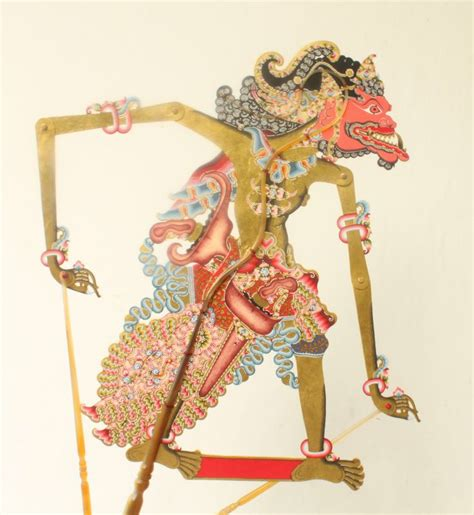 Wayang Golek Buto buto cakil cakil in wayang kulit leather puppet