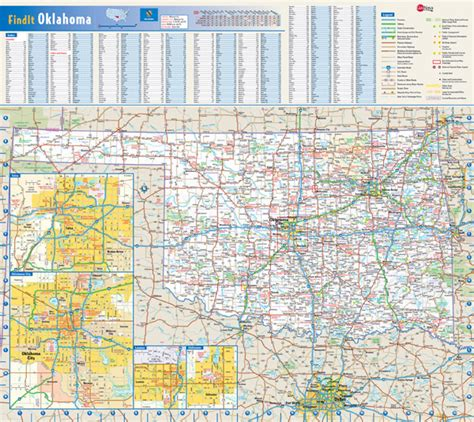 map of oklahoma highways oklahoma state map with cities and towns pictures to pin