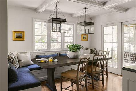 Dining Room With Banquette Seating | spacious traditional dining room with banquette seating
