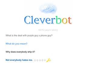 Cleverbot is either phone guy or vincent by fangirljane on