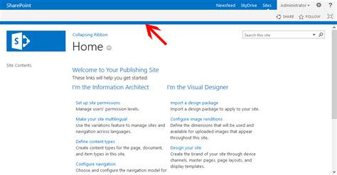 sharepoint 2013 top navigation bar image gallery sharepoint 2013 ribbon