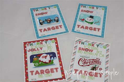 Target Gift Card Printable - teacher christmas gift idea printable for target gift card keeping it simple crafts