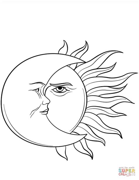moon coloring pages sun and moon coloring page free printable coloring pages
