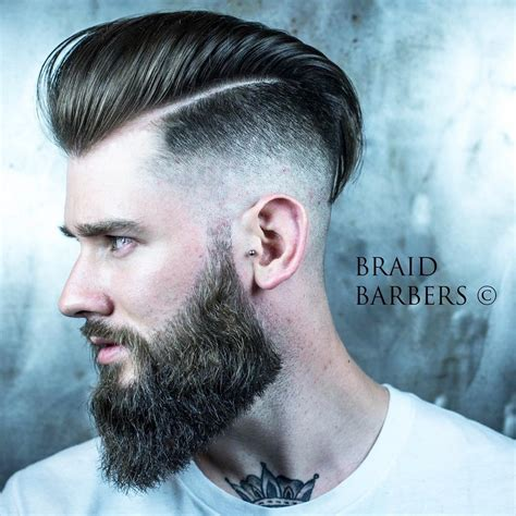 undercut hairstyles undercut hairstyle with beard www pixshark images