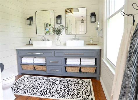 lamp  farmhouse bathroom lighting ideas