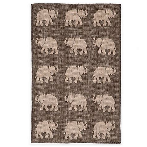 Elephant Outdoor Rug Liora Manne Terracotta Elephant Indoor Outdoor Rug Bed Bath Beyond