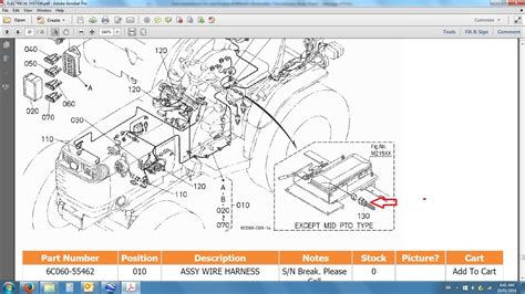 kubota tractor parts diagram diagram wiring harness kubota tractor diagram l245