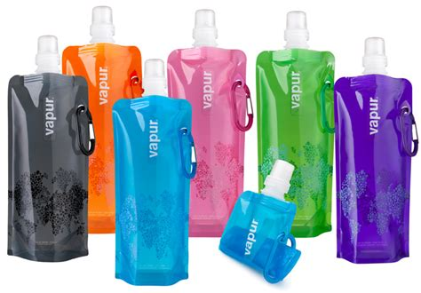 the vapur water bottle comes flat foldable and bpa free inhabitat green design innovation