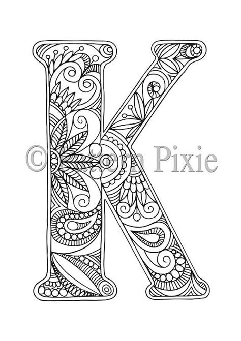K Coloring Pages For Adults by Free Coloring Pages Letter K Coloring Pages