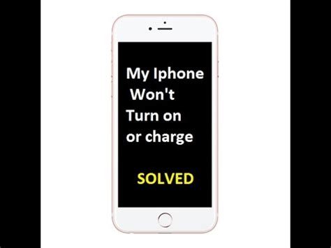 how to fix my iphone that won t turn on or charge