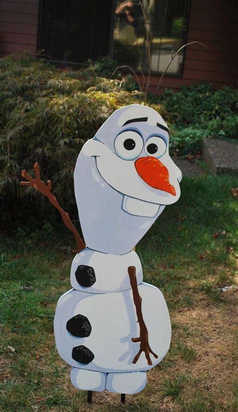olaf snowman yard by grimestown on etsy