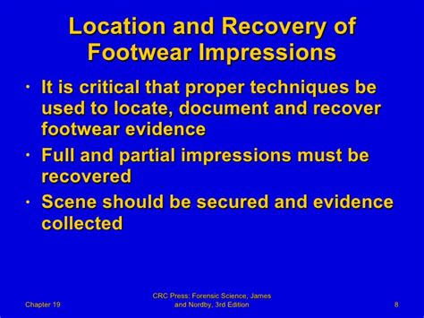 forensic footwear evidence practical aspects of criminal and forensic investigations books 19 forensic science powerpoint chapter 19 forensic