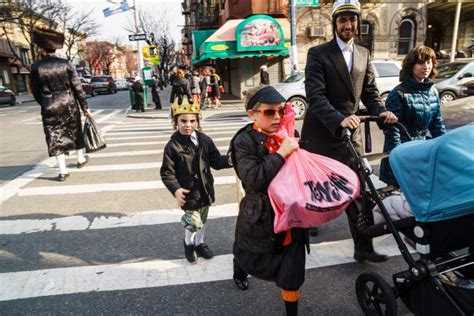 jewish section of brooklyn new york in photos purim costumes celebrations in