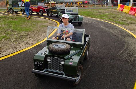 mini land rover diggerland s awesome land rover go karts bestride