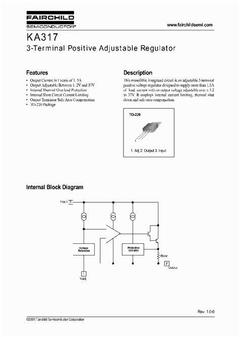 Lm317 Lm317bt Onsemi ka317 1259540 pdf datasheet ic on line