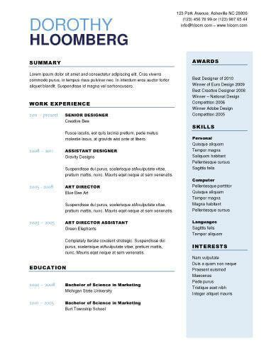 Resume Accomplishments Without Numbers Resume Templates To Highlight Your Accomplishments
