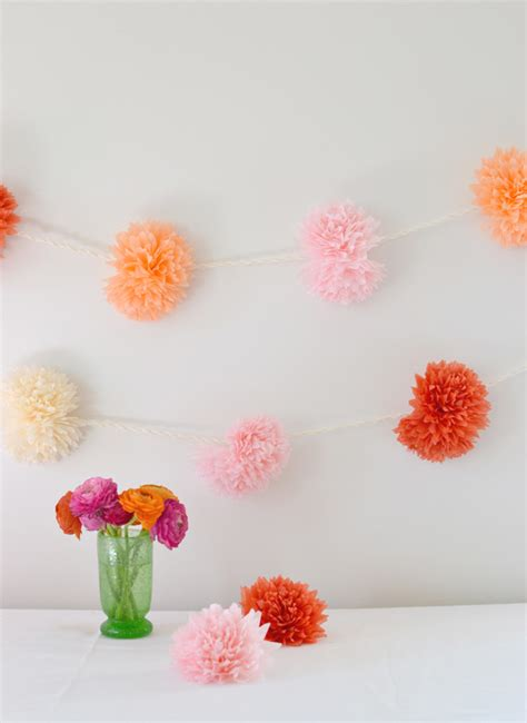 Garland With Paper Flowers - tissue paper flower garland artbar