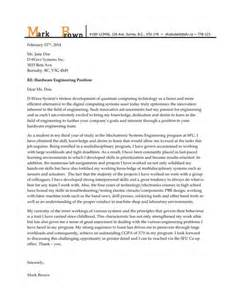 Mechatronics Engineer Cover Letter by Flipsnack Resume By Sfu Work Integrated Learning