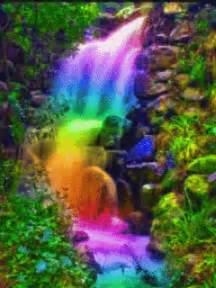 colorful waterfall gif animated backgrounds my happy place