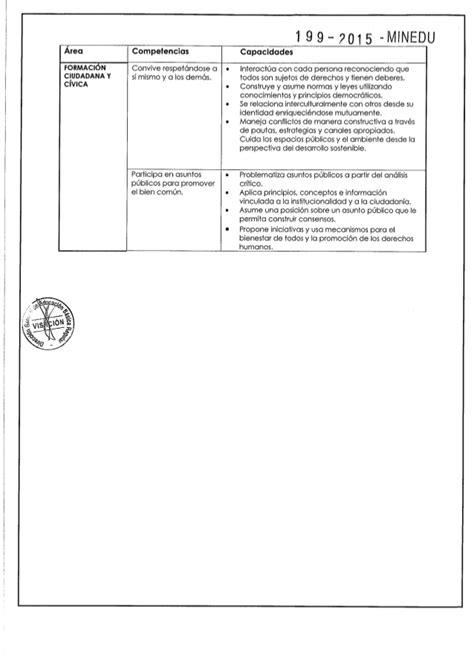 Diseño Curricular Por Competencias Minedu Dise 241 O Curricular Nacional Modificado Por Rm N 186 199 2015 Minedu
