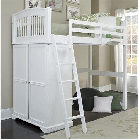 White Loft Bed by Ne Walnut Locker Loft Bed In White