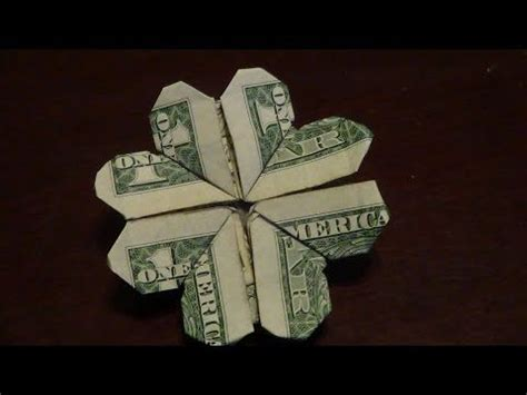 Two Dollar Bill Origami - dollar origami shamrock tutorial how to make a dollar