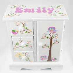 personalized jewelry box owls and birds personalized musical jewelry box for nanycrafts
