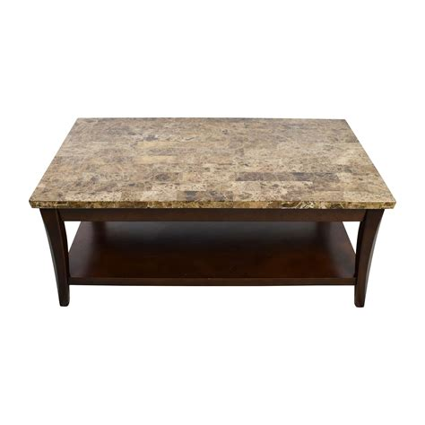 Wood And Marble Coffee Table Carlyle Second Shop