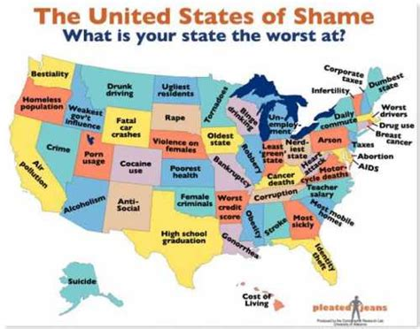 What is your state worst at? (neat map)