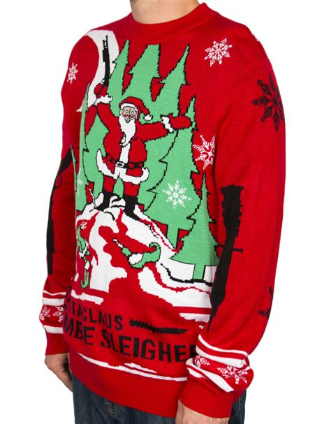 zombie christmas sweater la gear sweater