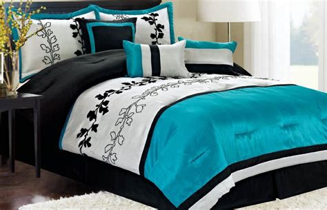 Bed Set Black Vikingwaterford Page 2 Black And Turquoise Bedding Set With Machine Washable Black White