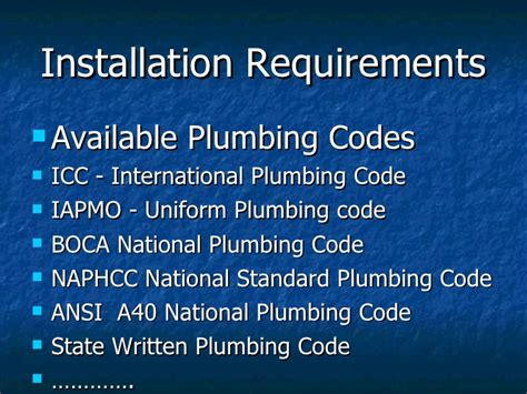 Icc Plumbing Code by Bushman Chemical Backflow Prevention