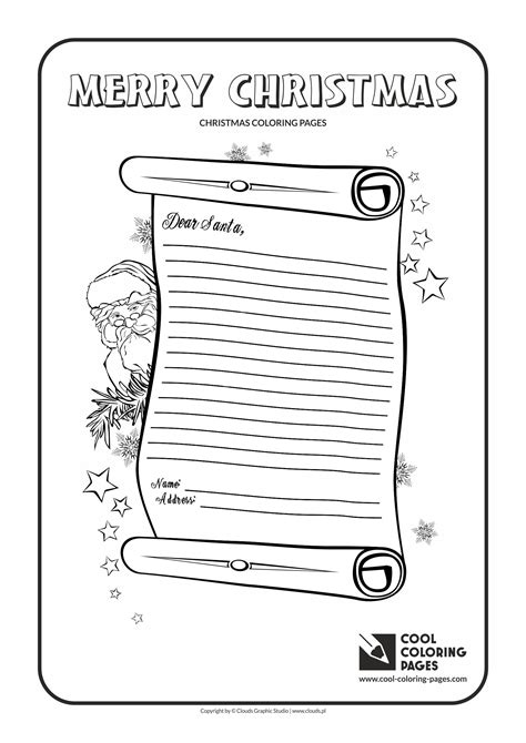 coloring pages letter to santa cool coloring pages christmas coloring pages cool