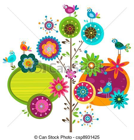 clipart fiori whimsical flower illustrations clipart