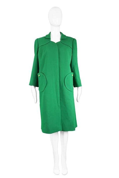 green swing coat ian thomas british couture green wool swing coat 1960s