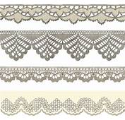 Vintage Lace Ribbons Vector Free In Adobe
