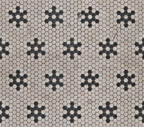 Hexagonal b w tiles