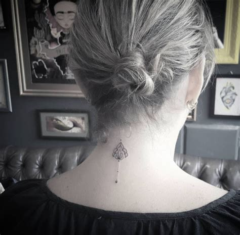 back of neck tattoos pain 80 awesome back neck ideas for gravetics
