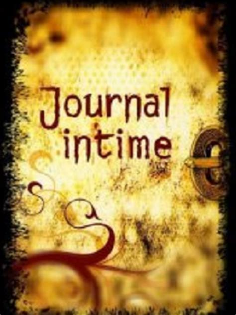 couverture du journal intime