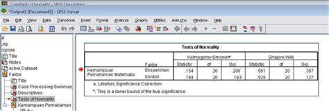 cara uji normalitas menggunakan spss 19 geosamsedu uji normalitas data dengan spss
