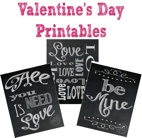 s day chalkboard printables the diy