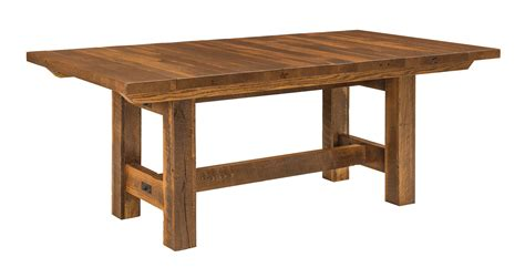 Lynchburg Reclaimed Barn Wood Trestle Dining Table Reclaimed Barn Wood Dining Tables