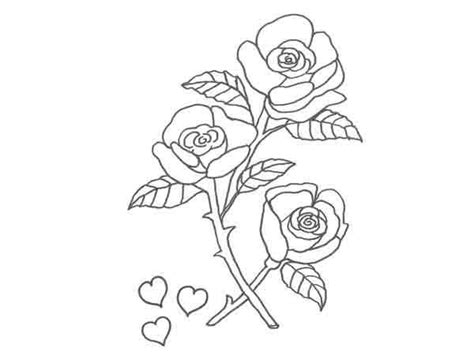 imagenes de rosas y corazones para dibujar dibujo de rosas y corazones para pintar con ni 241 os