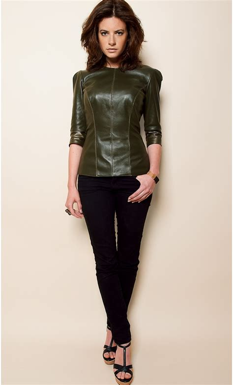 Best Leather by Half Sleeve Leather Top Mondefile