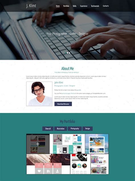 html5 free portfolio template 30 free stunning website templates instantshift