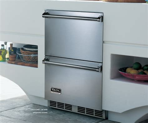 Viking Refrigerator Drawers by Viking Vrdo1240dss 24 Quot Outdoor Drawer Refrigerator
