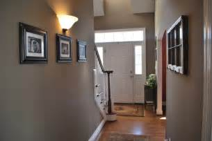 hallway color ideas painted the hallway quot bison beige quot and added family